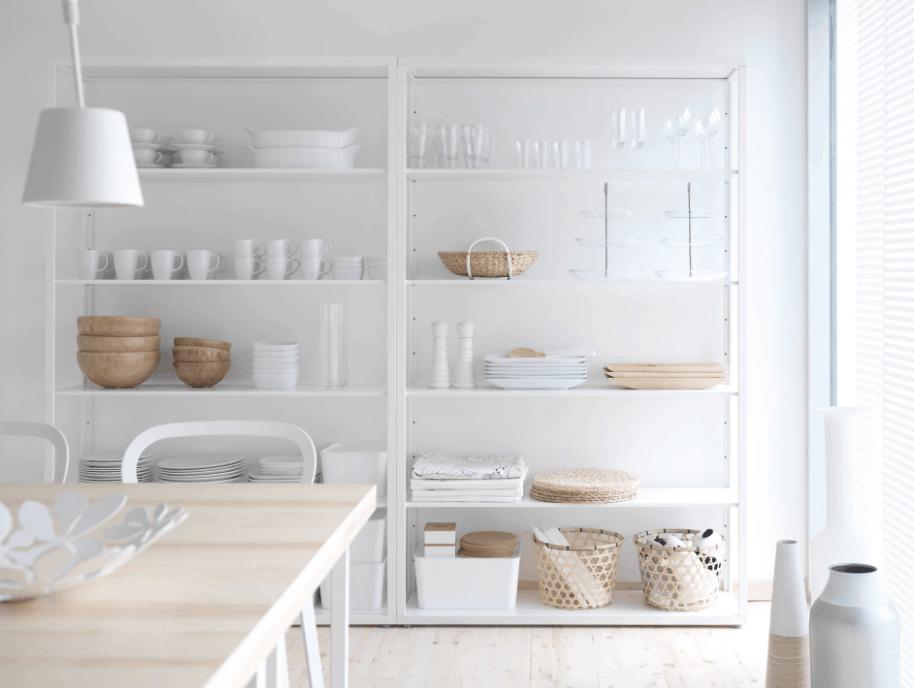 Ikea bookcase hacks for kitchen